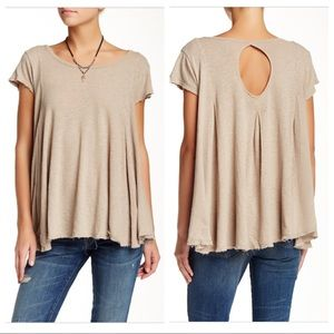 Free People Sylvie Flowy Tee in Taupe